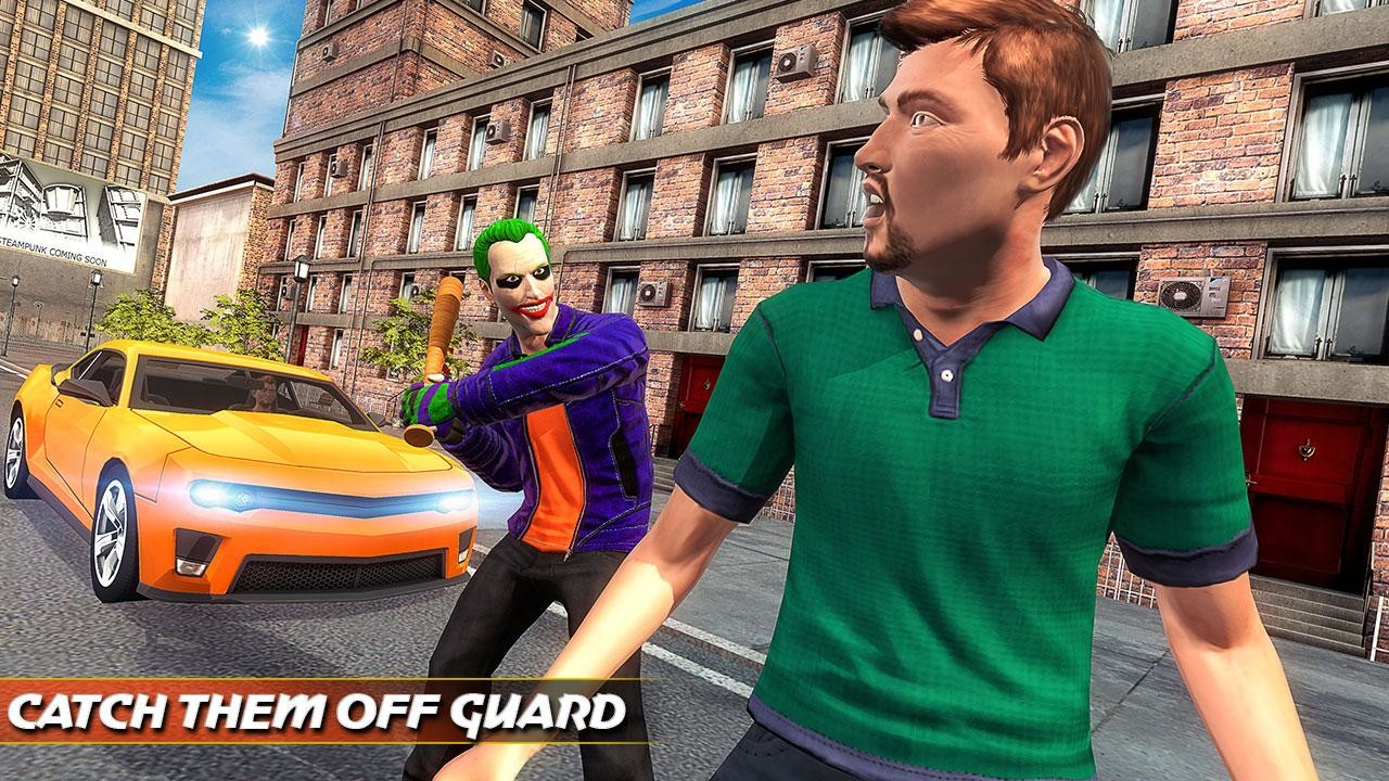 City Gangster Clown Attack 3D