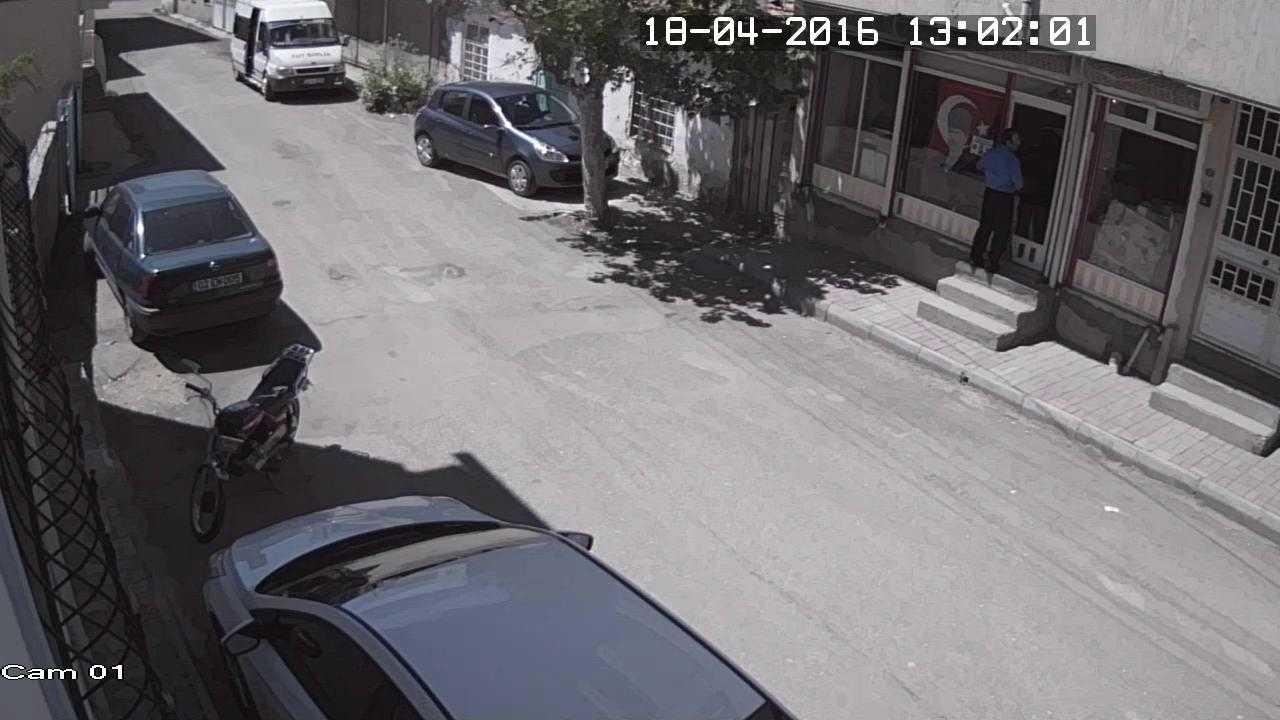 Türkay Gazetesindeki Hırsızlık Güvenlik Kamerasında