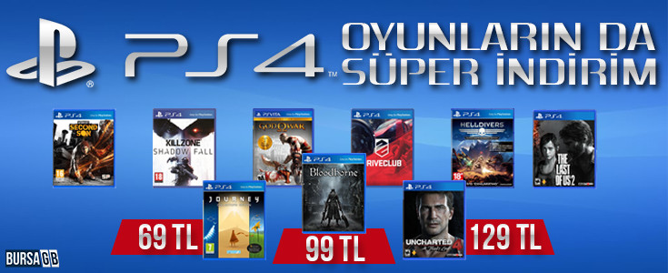 Playstation 4 Oyunlarında Süper İndirim