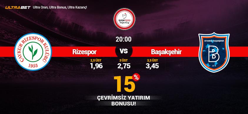 Rizespor - Başakşehir Canlı Maç İzle