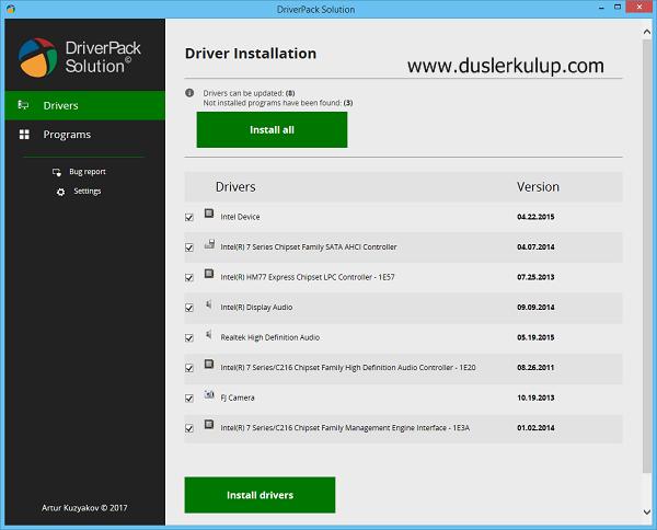 X6BEdj Driver Pack Solution 2018 Güncel Versiyon Torrentle İndir