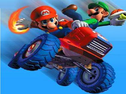 Mario Traktör Yarışı Oyunu
