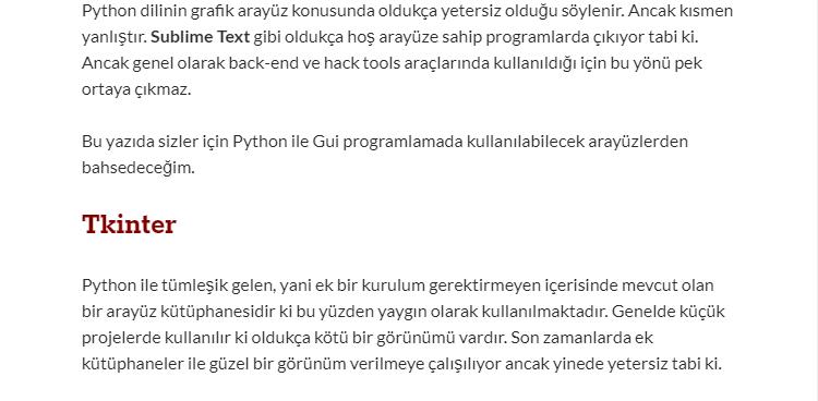 Python Grafik Arayüzleri \ Python > Cyber-Warrior Org