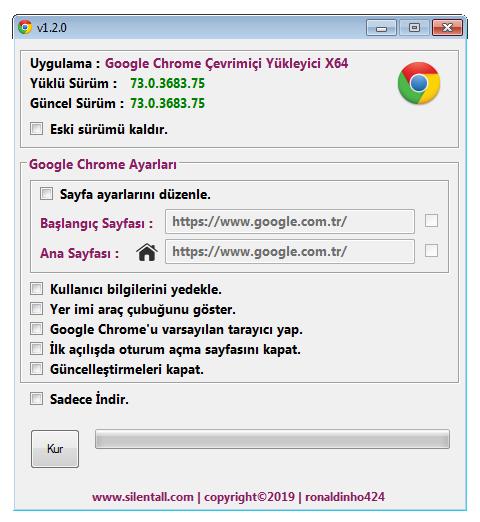 Google Chrome Çevrimiçi Yükleyici v1.2.0