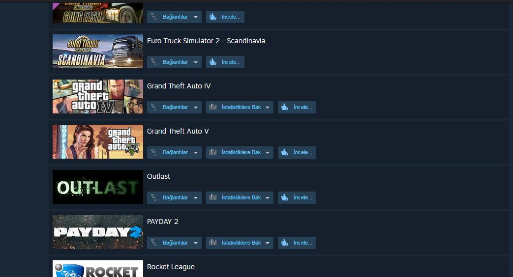 Steam Hesap Satışı - Gta 4, Gta 5, Payday 2, CS:GO, Bıçak, Silahlar