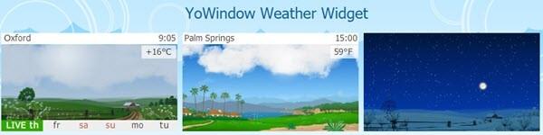 YoWindow weather widget