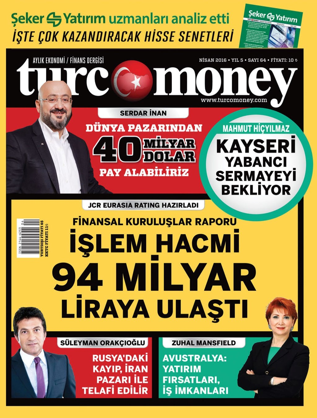Turcomoney Nisan 2016 PDF Dergi indir