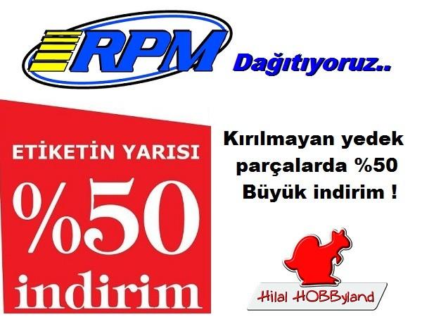Hilalhobbyland | RPM ürünlerinde Etiketin Yarısı Kampanyası