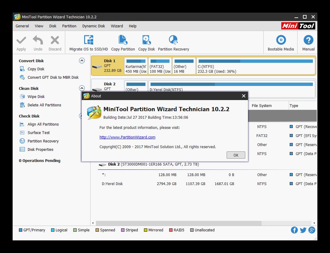 télécharger minitool partition wizard 10.2.2 pour windows