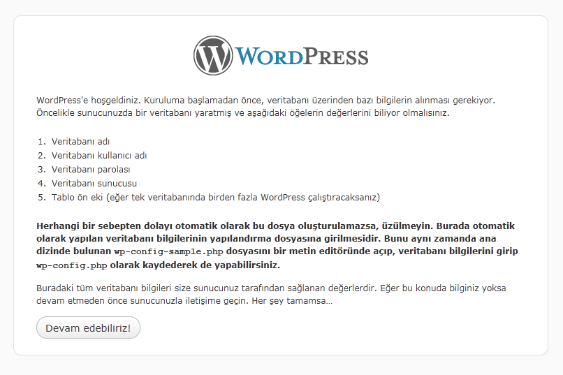 Wordpress Blog Kurulumu