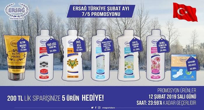 Ersağ Şubat Ayı 2019 Türkiye Geneli 7 De 5 Kampanyası