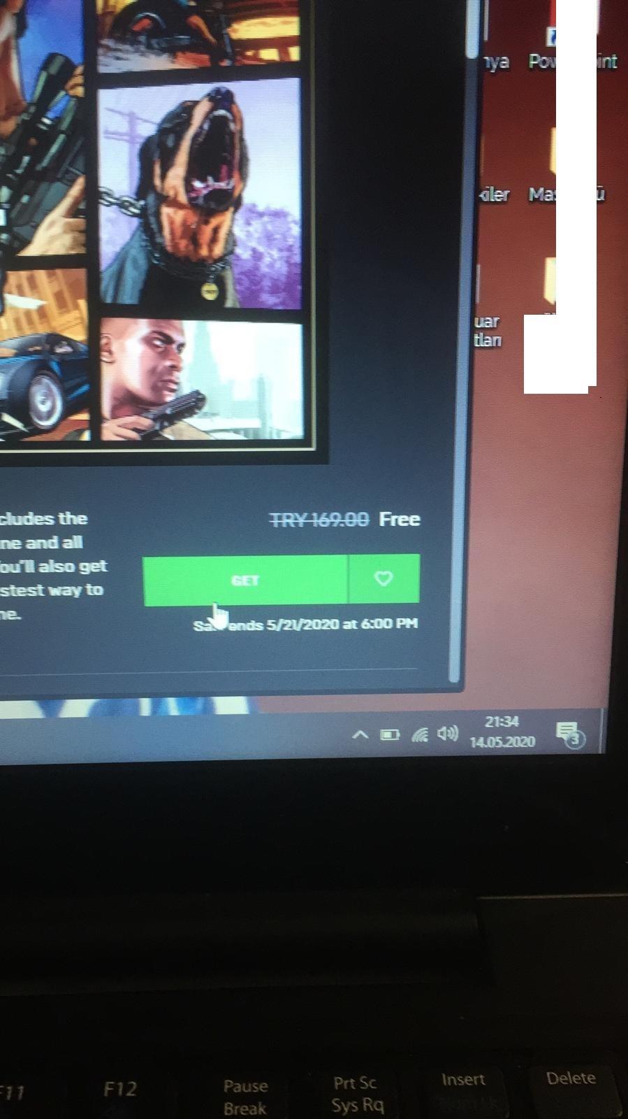 Ücretisz  Epic Games Ten Herkese GTA V Hesap Üstelik Kendi Adınıza  (21.05.2020 Kadar Geçerli)