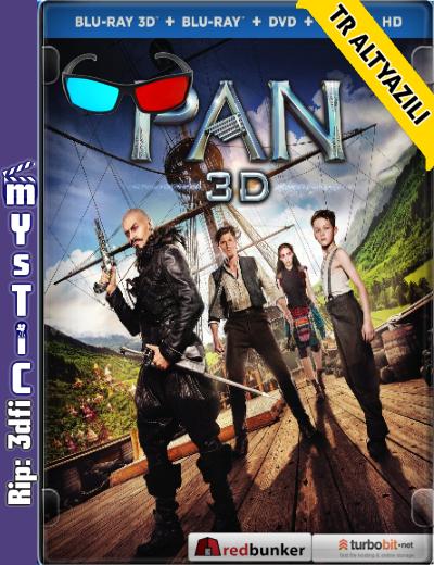 Pan 3d (2015) (BluRay m1080p 3d HSBS) Türkçe Altyazılı indir