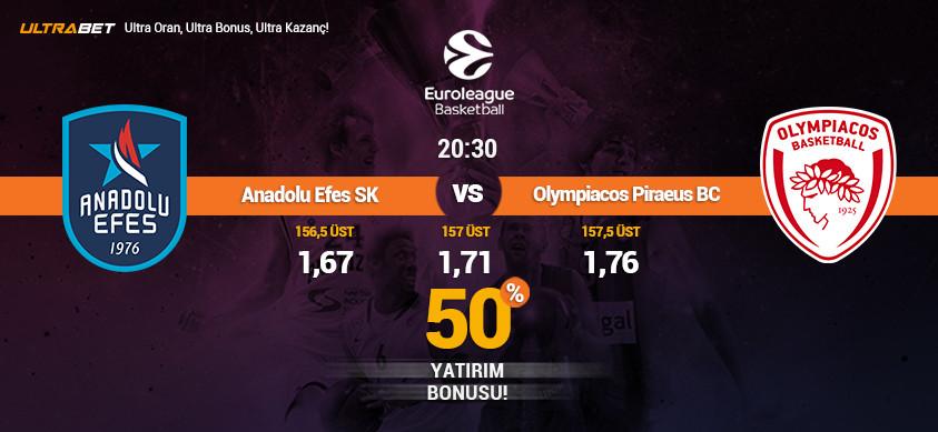 Anadolu Efes - Olympiacos Canlı Maç İzle