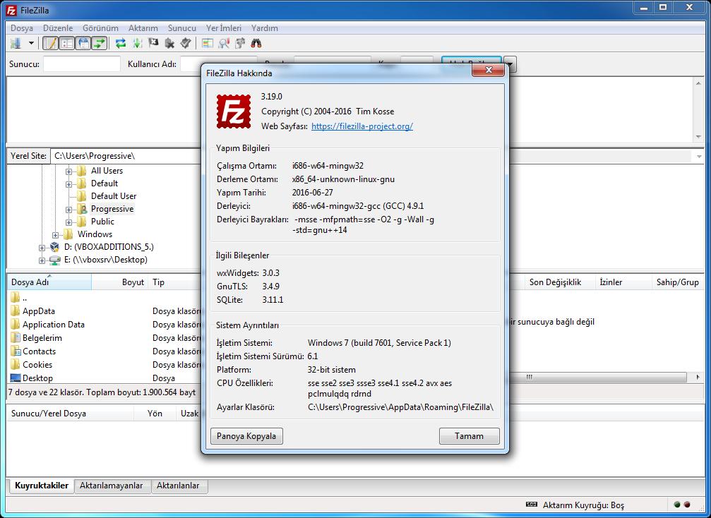 FileZilla 3.20.0 Final   Katılımsız