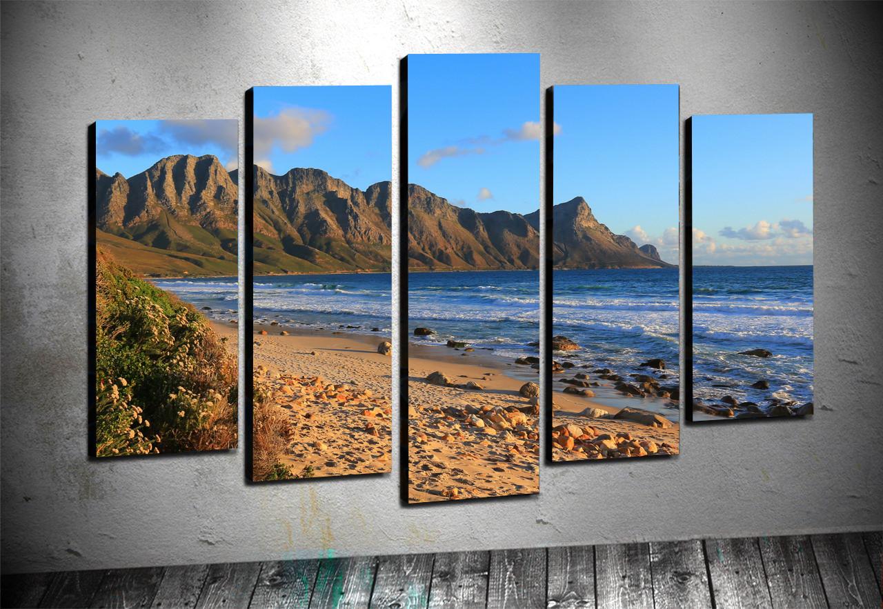 5 Parçalı Kanvas - Dağ Manzaraları