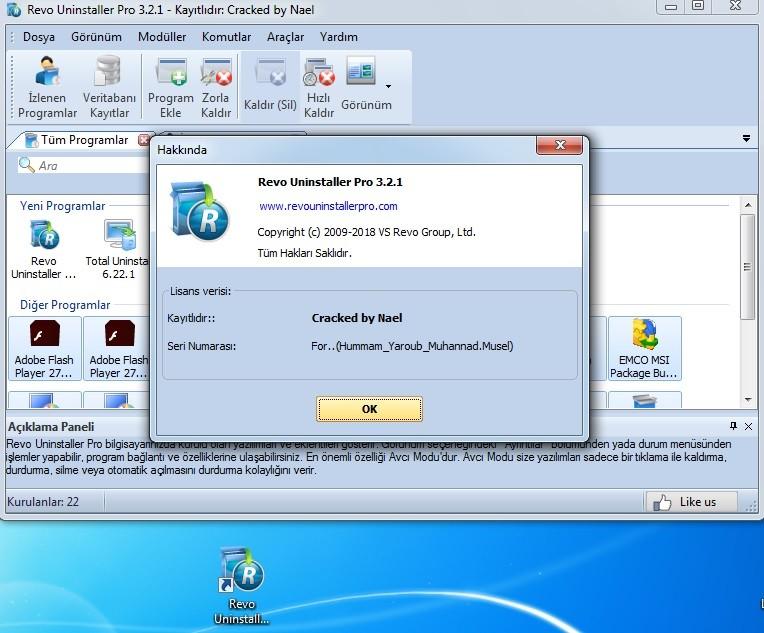 Revo Uninstaller Pro 3.2.1 Türkçe |  Katılımsız