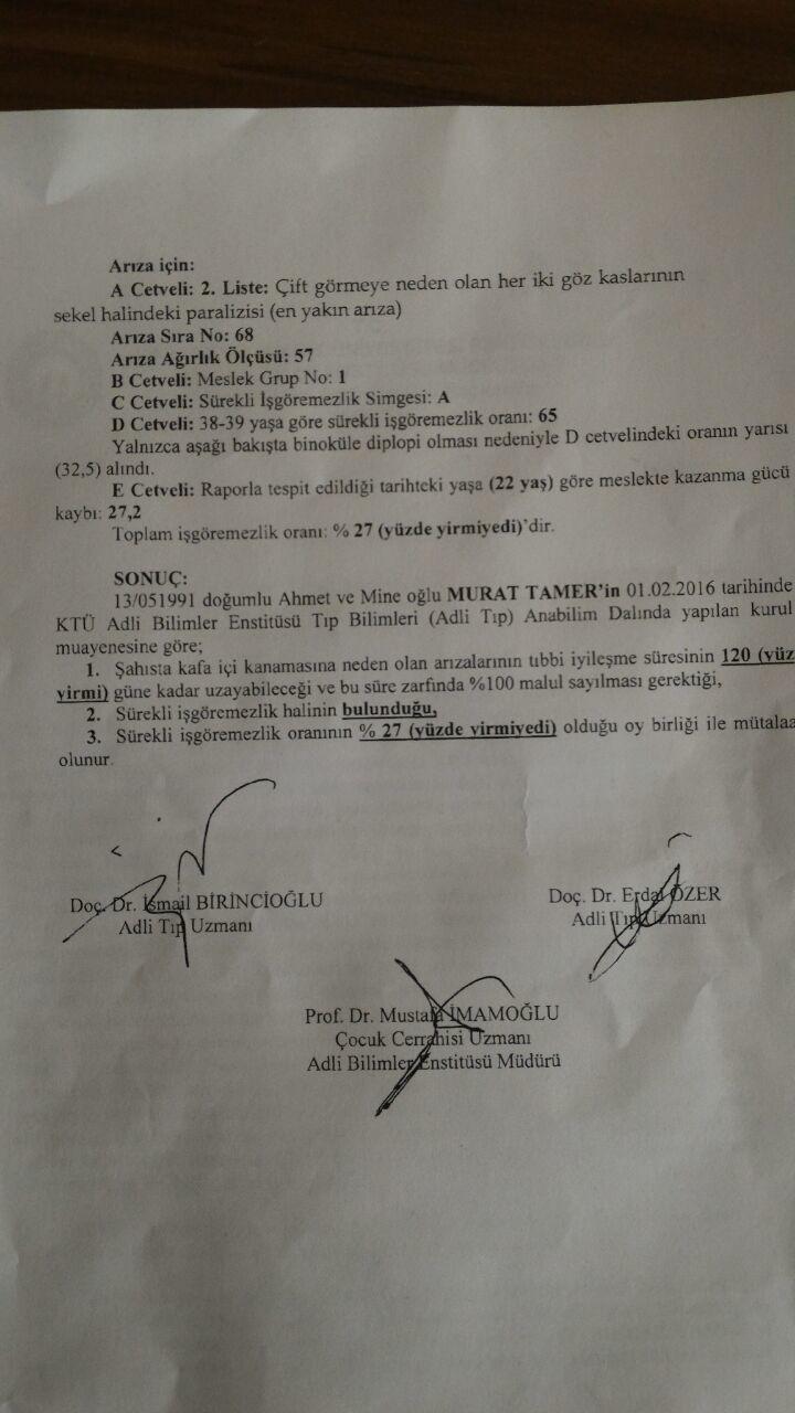 YkEmpA - Trafik kazas� sonras� Akt�el Hesaplama detaylar�..?