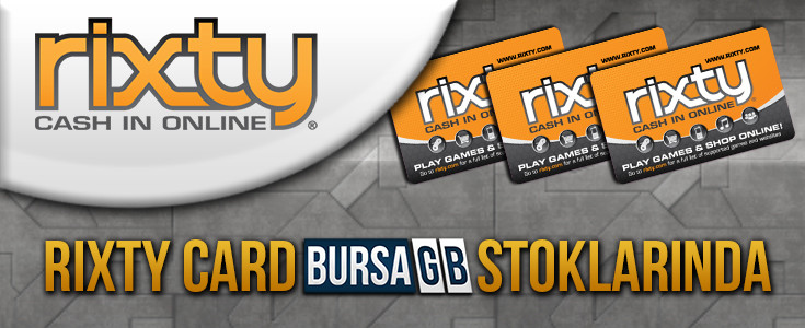 Rixty Card BursaGB Stoklarinda