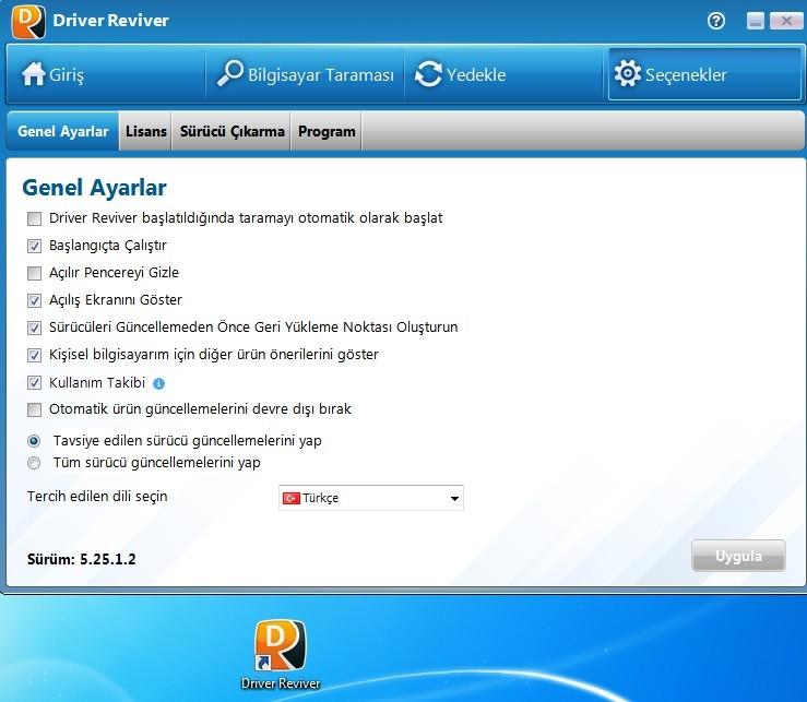 Driver Reviver 5.25.1.2 Türkçe | Katılımsız