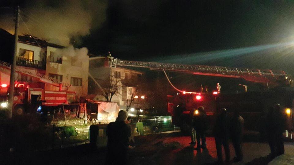 Kaygana Mahallesinde Yangın