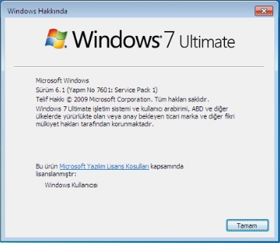 Windows 7 Ultimate Sp1 [x32 - x64] - Mart 2018 - Türkçe