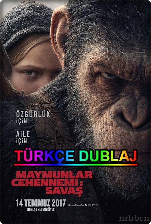 Maymunlar Cehennemi 3: Savaş 2017 (Türkçe Dublaj) 720p HDTS
