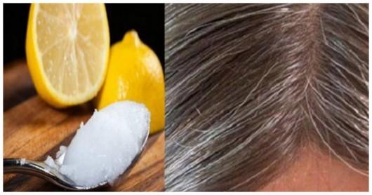 Kokos yağı və limon: Ağ saçları unudacaqsınız, əvvəlki saç rənginiz geri gələcək!
