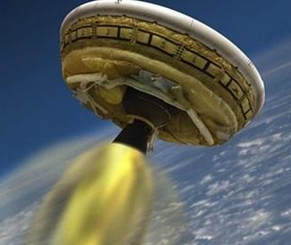 NASA'nın 'uçan daire'si ilk uçuşunu yaptı