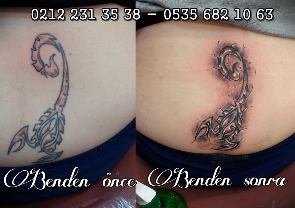 akrep dövmesi tattoo istanbul dövmeci
