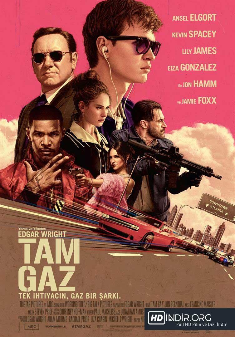 Tam Gaz – Baby Driver (2017) Türkçe Dublaj HD - Film İndir