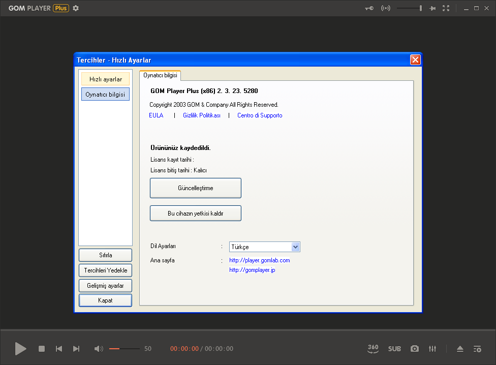 GOM Player Plus 2.3.23.5280 | Katılımsız