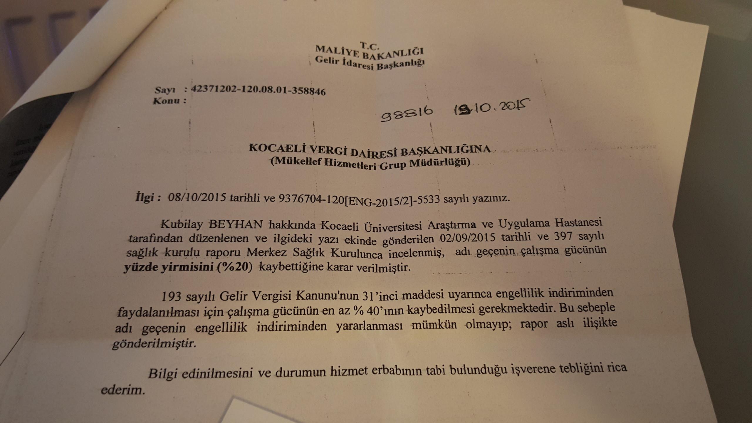 ZQnvrA - Ankara Maliye'de  raporum  düşürüldü! Ne  yapabilirim?