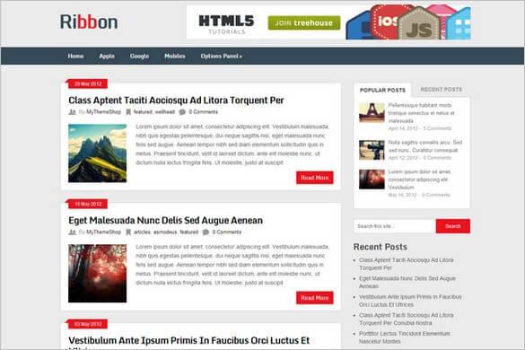 Ribbon Lite WP Teması