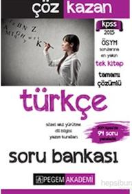 Pegem KPSS Türkçe Tamamı Çözümlü Soru Bankası