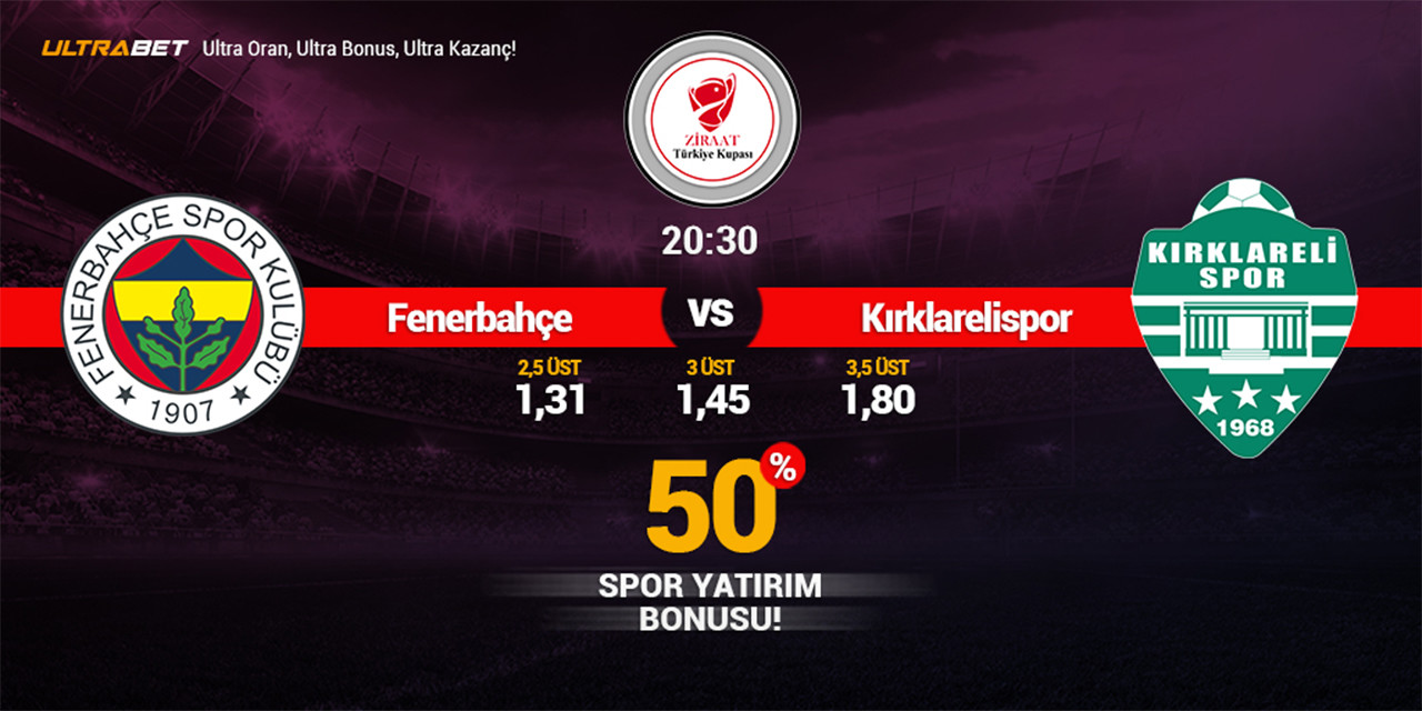 Fenerbahçe – Kırklarelispor Canlı Maç İzle
