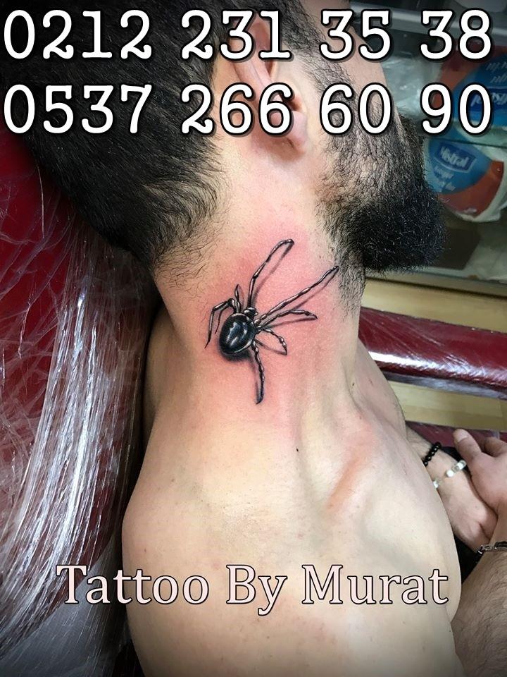 örümcek dövmesi 3d dövme 3 boyut dövmeler