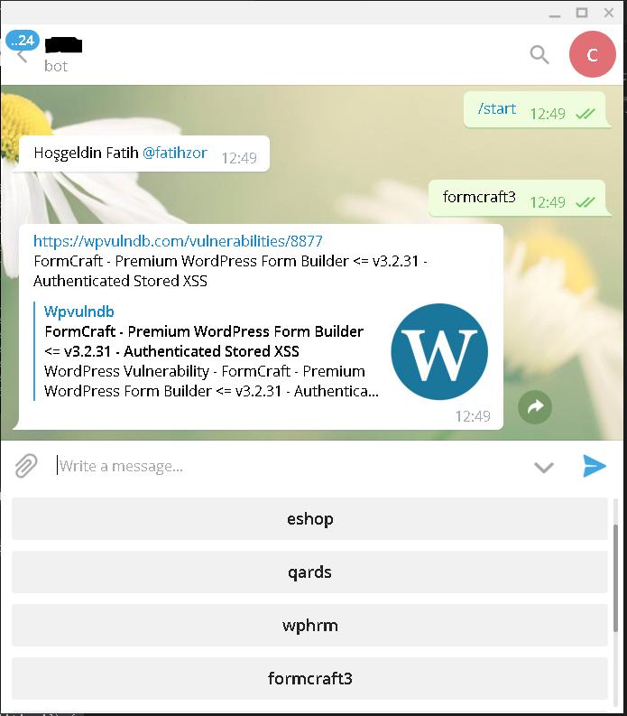 NodeJS ile Telegram Botu - Fatih Zor