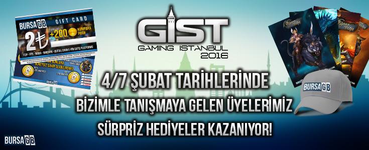 Gaming Istanbul Fuari ve Bursa GB Hediye Yagmuru