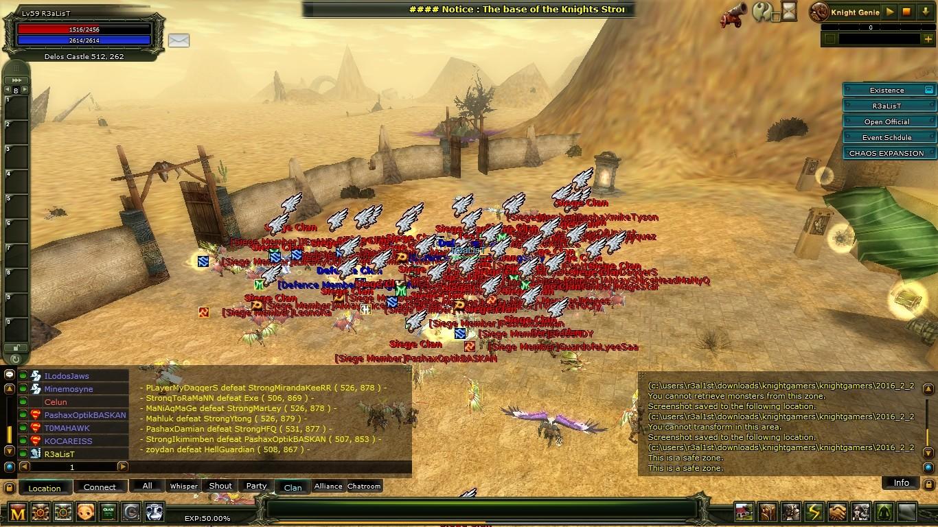 KnightGamerS v2111 Pk 2. Sunucu Existence | Ardream - Ronark Land Base - Ronark Land | Aktif .. !