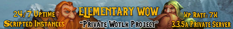 ELEMENTARYWOW 3.3.5a Private Wotlk Project