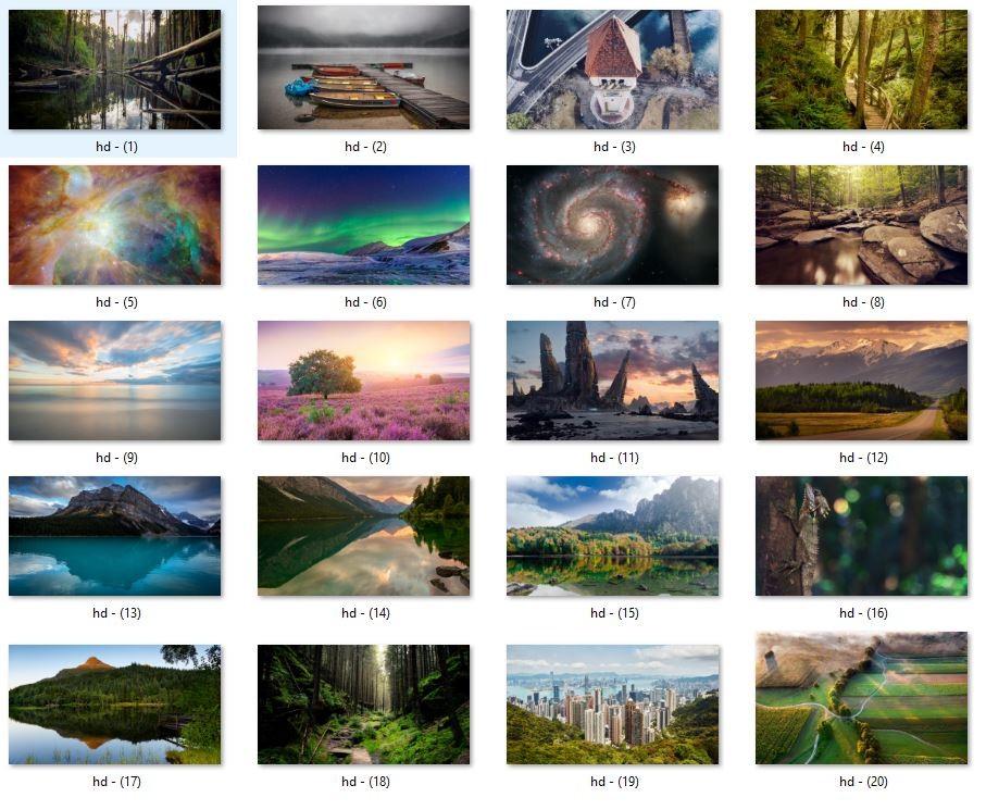 20 Tane Full Hd (1080p) Duvar Kağıdı Paketi (Özel Seçilmiş Resimler)