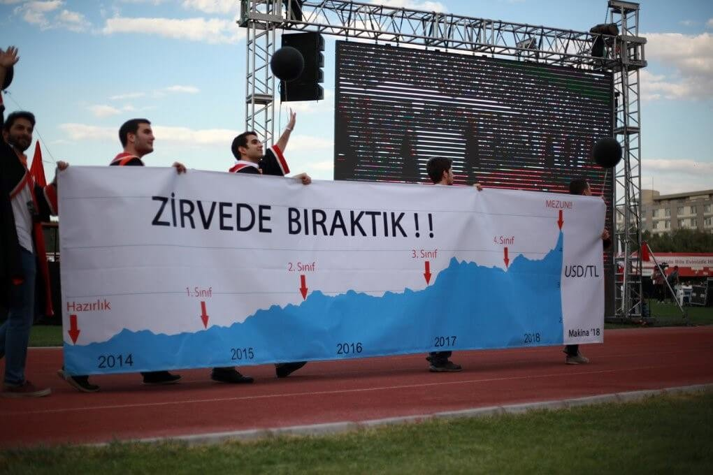 ZİRVEDE BIRAKTIK! pankartı