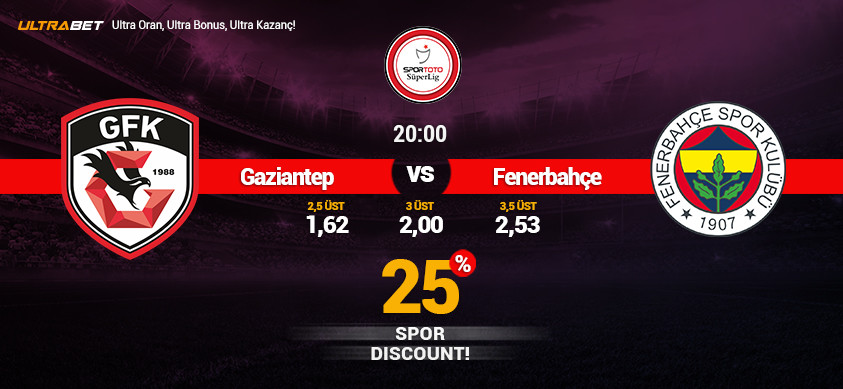 Gaziantep - Fenerbahçe Canlı Maç İzle