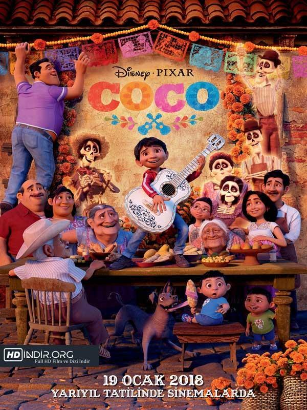 Coco indir (2018) Türkçe Dublaj BDRip HD Tek İndir