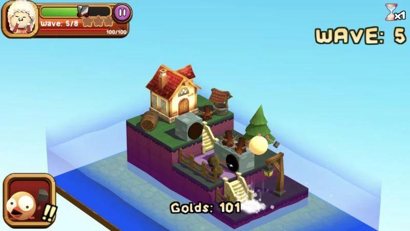 3D TD: Chicka Invasion - 3D Tower Defense! Apk Oyun