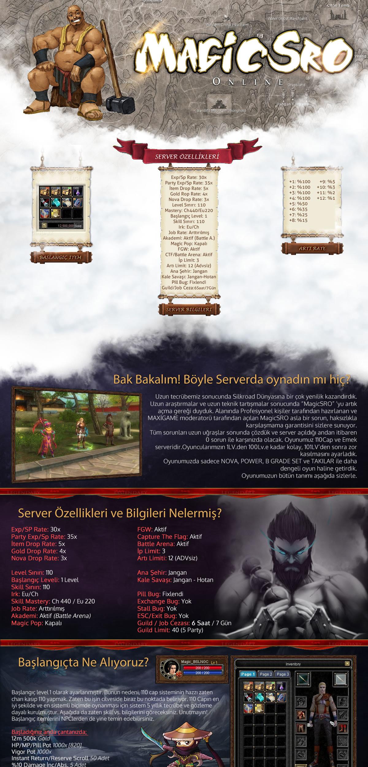 magicsro server, pvp serverlar