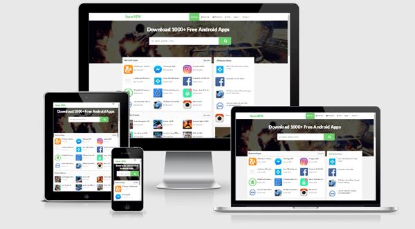 Blogger Mobil Uyumlu Responsive APK Uygulama indirme ve Paylaşım Teması
