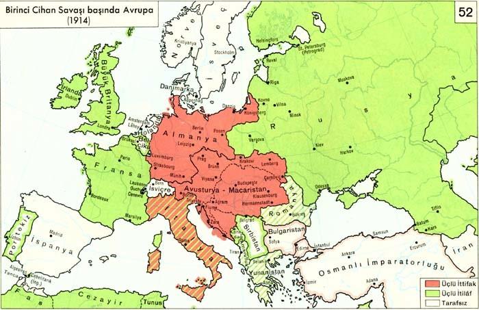 birinci dünya savaşının nedenleri