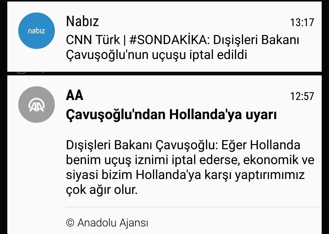 Dışişleri Bakanı Çavuşoğlu'nun uçuşu iptal edildi.